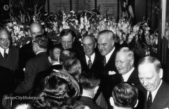 Mayor Frank Hague's New Year's Day early morning reception -- January 1, 1947, the last year of Hague's rule